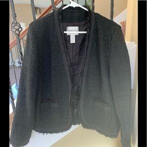 Chico's distresses tweed blazer